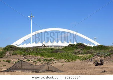 View From Beach Of Moses Mabhida Stadium