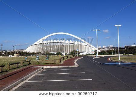 Empty Parking Bays In Front Of Moses Mabhida Stadium