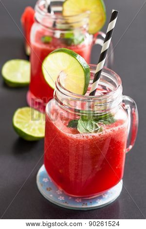 Watermelon And Lime Drink