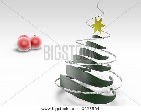 Christmas Tree With Christmass Ball