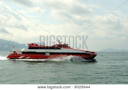 Speeding ferry