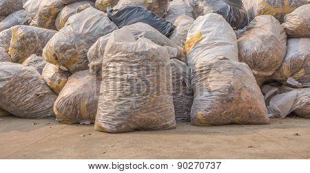 Image Of  Garbage Bag On The Street.
