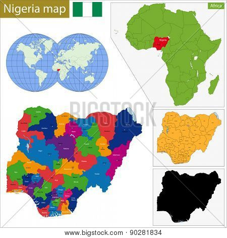 Administrative division of the Federal Republic of Nigeria poster