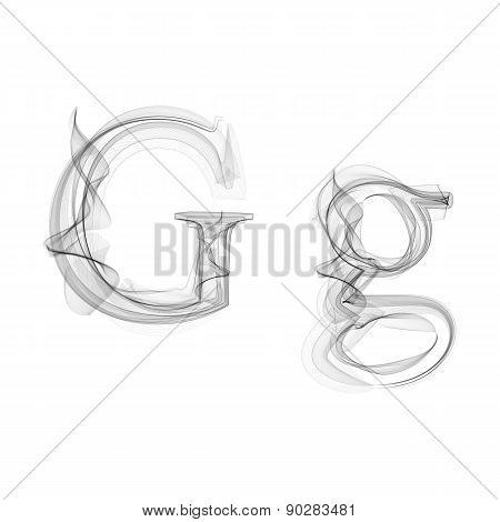 Black Smoke font. Letter G
