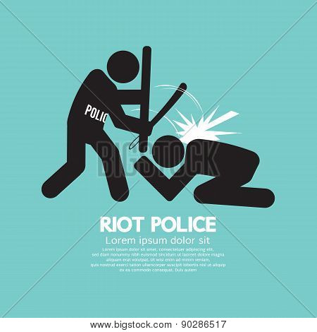 Riot Police Black Symbol.