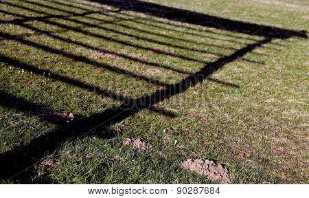 Shadow Of The Old Barn For Hay Drying