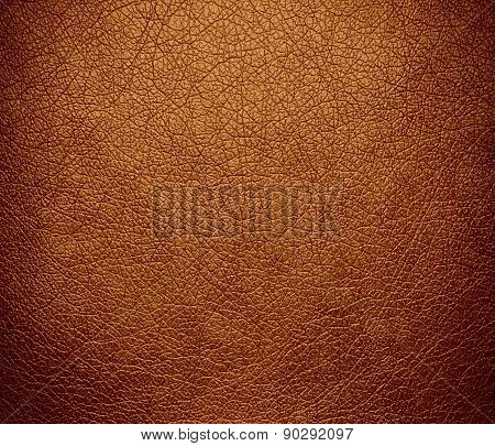 Copper color leather texture background