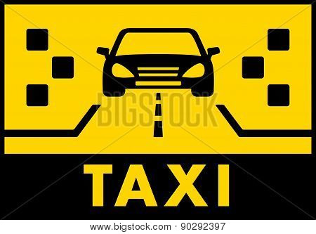 yelow taxi background with cab on road