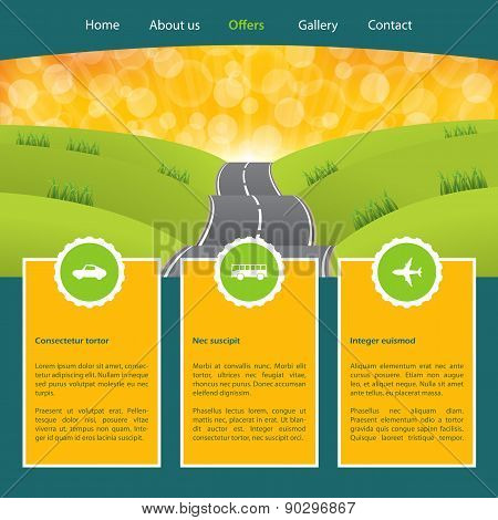 Tourism Homepage Template For Advertising