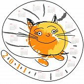Cartoon calendar for 2011 Universal template for greeting card, web page, background poster