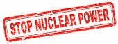 stop nuclear energy stop radio active waste from nuclear power plant danger of radiation and risk of contamination by gamma radiation poster