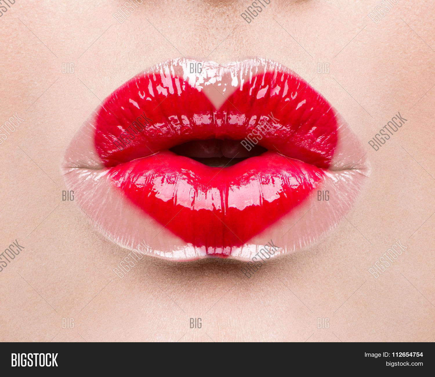 Kiss And Makeup Day: Valentine Heart Kiss Image & Photo (Free Trial)