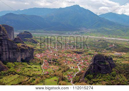 Kalabaka Viewed From Above