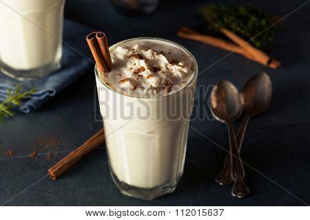 Homemade Eggnog Ice Cream Milkshake