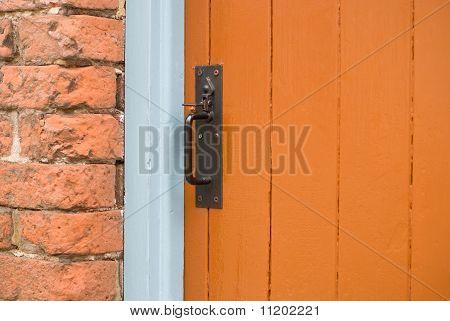 Orange Wooden Door