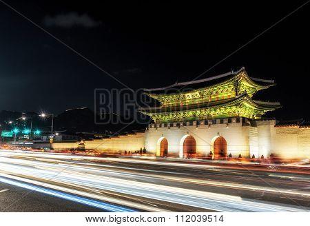 Gyeongbok Palace Taken At Night
