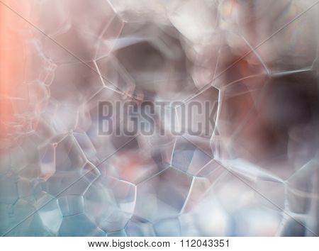Dreamy Hazy Abstract Background - Soap Suds Macro