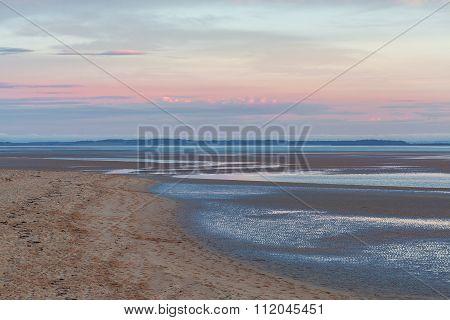 Inverloch Foreshore Beach At Pink Sunset, Australia