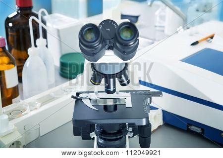 Laboratory Microscope. Scientific And Healthcare Research.
