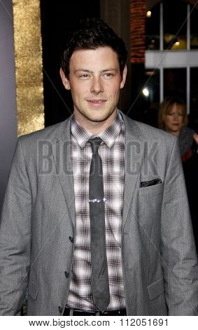 Cory Monteith at the Los Angeles Premiere of
