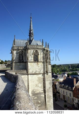 Tower Of The Castle Of Amboise In The Loire Valley