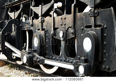 Historic steam locomotive detail