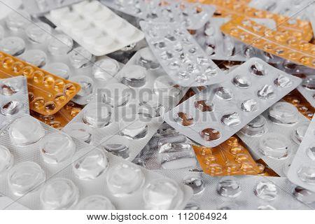 Empty Cachets Of Medical Pills