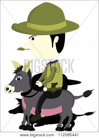 the cowboy and donkeys