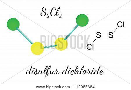 Cl2S2 disulfur dichloride molecule