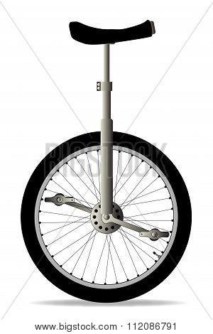 Unicycle On White
