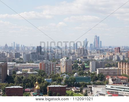 View Of The Moscow City