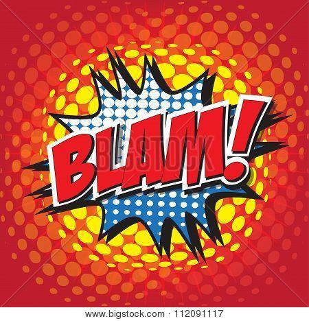 BLAM! wording sound effect