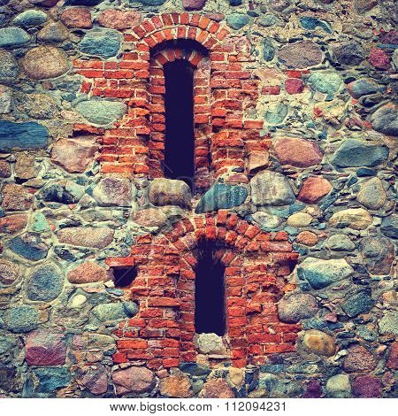 Stone Wall Of An Old Castle