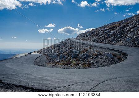 Winding Road To Mount Evans