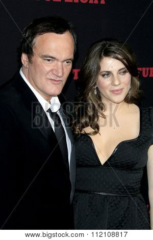 LOS ANGELES - DEC 7:  Quentin Tarantino, Courtney Hoffman at the