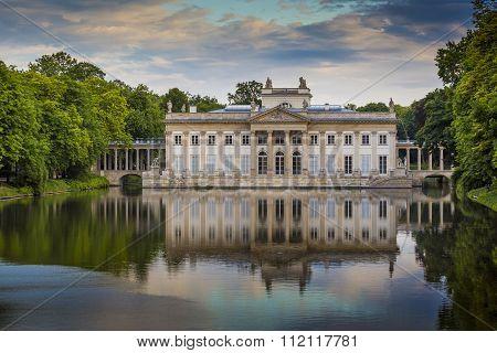 The Lazienki Palace In Lazienki Park, Warsaw. Lazienki Krolewskie. Poland