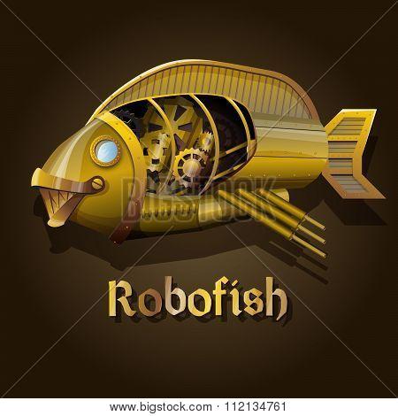 Steampunk robot fish