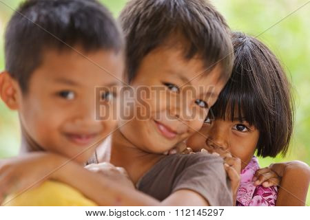 SATUN, THAILAND, DECEMBER 09, 2011 : Portrait of Thai kids in a social school orphanage in Satun, Thailand,