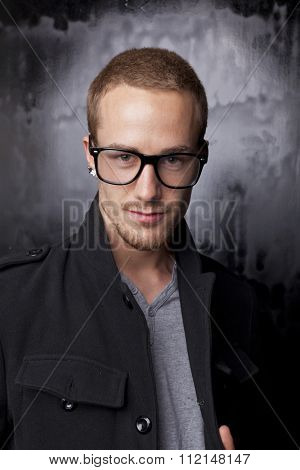 Good looking men, studio shot, metrosexual gay, casual clothing