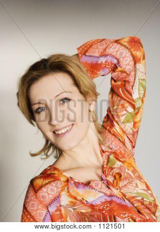 Happy Vivid Woman