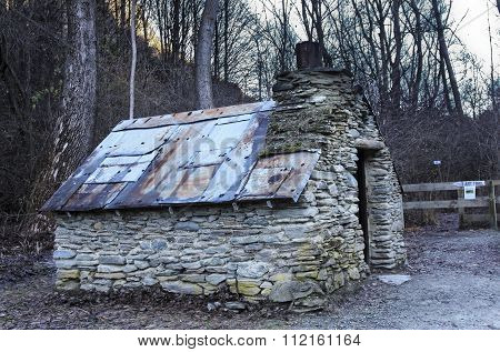 Old Hut In Arrowtown New Zealand