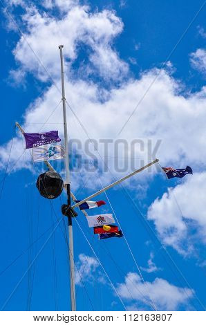 Flag Array: The Round House, Fremantle, Western Australia