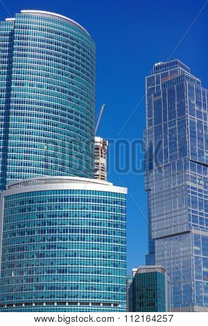 Edge Of Office Building On Sky Background