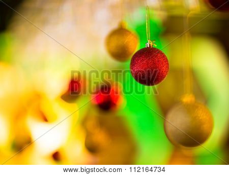 Colorful Blurred New Year Background