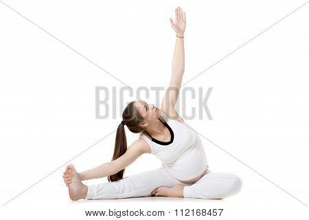 Prenatal Yoga, Head-to-knee Forward Bend Pose