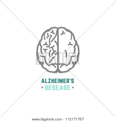 Alzheimers Icon vector
