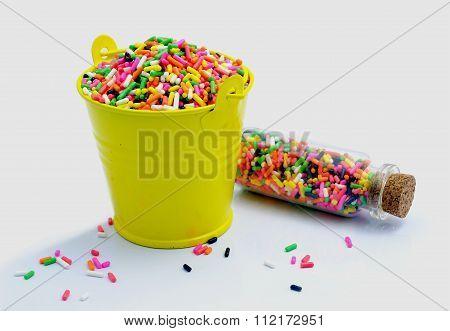 Sprinkles In A Bucket .donut Glaze;
