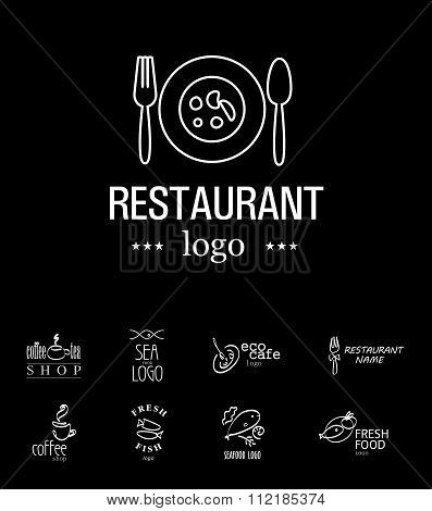 Vector set of restaurant logo