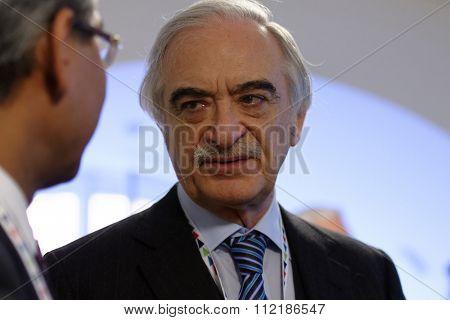 ST. PETERSBURG, RUSSIA - DECEMBER 15, 2015: Extraordinary and Plenipotentiary Ambassador of Azerbaijan Republic in Russia Polad Bulbuloglu during 4th St. Petersburg International Cultural Forum