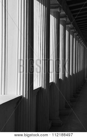 Ionic Columns Abstract